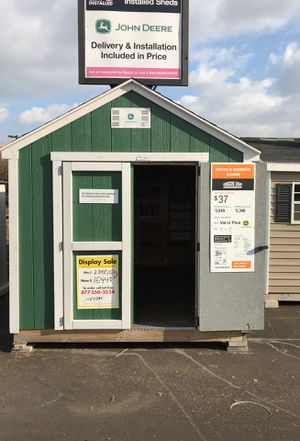 Sheds USA 8x12 Value Plus Shed Display now on sale at Home Depot Westbury NY for Sale in Westbury, NY