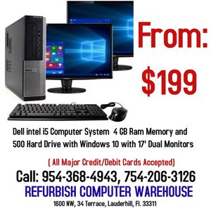 """DELL """" intel i5"""" COMPUTER FOR SALE!! for Sale in Fort Lauderdale, FL"""