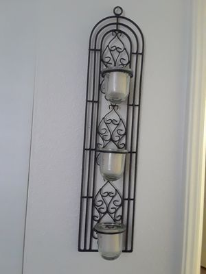 Black Metal Wall Candle Holder for Sale in Ridgecrest, CA