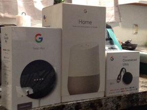 Google nest mini. Google home. Chromecast ultra for Sale in Austin, TX