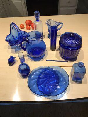 Cobalt Blue Glass Assortment for Sale in Lancaster, PA