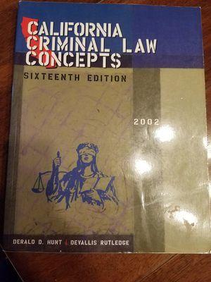 California Criminal Law Concepts for Sale in Buena Park, CA