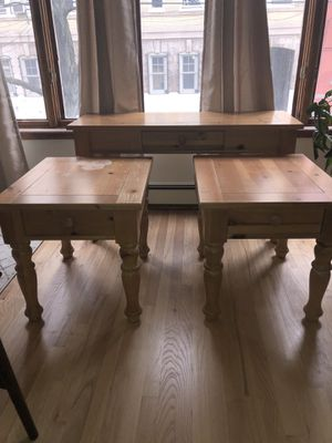 Wooden Sofa Table and End Table Set for Sale in Hoboken, NJ