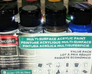 8 Pack DecoArt Americana Multi-Surface Satin Acrylic Paint Value Pack for Sale in Manassas,  VA