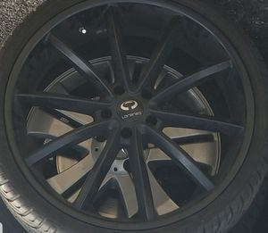 "22"" Lorenzo rims and tires for Sale in Washington, DC"