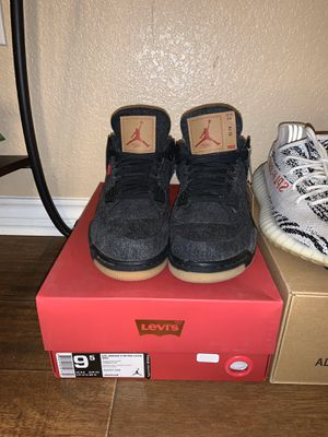 Jordan 4 black levis size 9.5 for Sale in Fort Worth, TX
