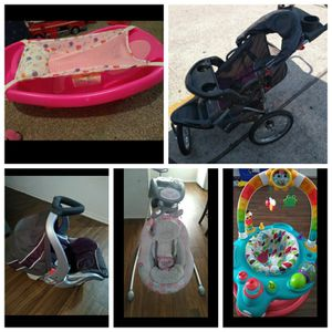 Bath.Carseat and Stroller.Swing& Bouncer for Sale in Houston, TX