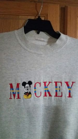 Disney Mickey Mouse Embroidered Sweatshirt Size L for Sale in Wenatchee, WA