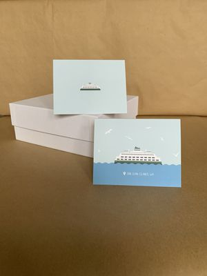 San Juan Islands Ferry Notecard Set for Sale in Bothell, WA