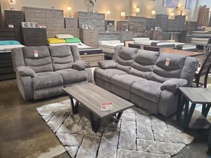 Reclining Sofa and Loveseat, Gray for Sale in Garden Grove, CA