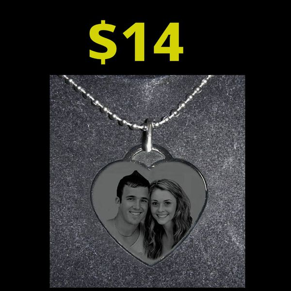 **PERSONALIZED Heart Necklace -Any photo - great gift