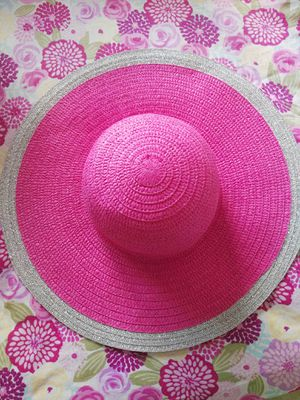 Big beautiful pink and silver hat. Very Chic. Hit me with your best price!! for Sale in Delray Beach, FL