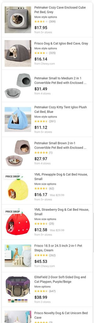 Pet bed 2 in 1 Convertible Pet Bed- Cat, Kitten or Small Dog Bed / Enclosed Cave House for Sale in Richmond, CA