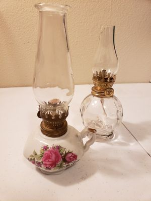 2 antique oil lamps for Sale in Gresham, OR