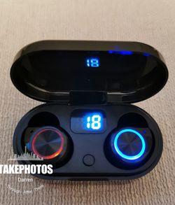 (B5)Bluetooth True Wireless Earphone 5.0 Touch Control Earbuds Waterproof Music Headset for Sale in La Habra,  CA