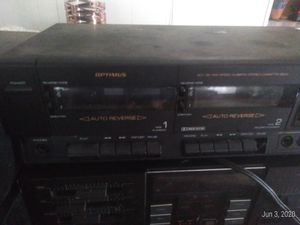 Optimus stereo double tape and sta 3160 synthesized receiver for Sale in Houston, TX