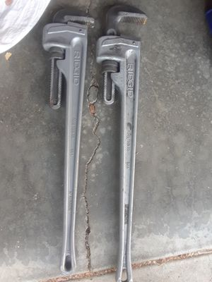 """2) ridgid 36"""" pipe wrenches for Sale in San Jose, CA"""