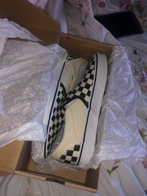 Checkered vans slip ons for Sale in Garland, TX