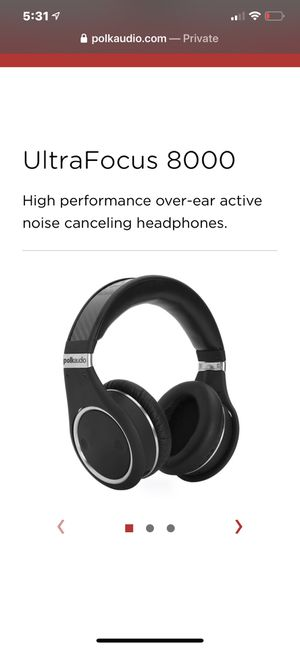 Polk Audio noise cancelling headphones for Sale in Vancouver, WA
