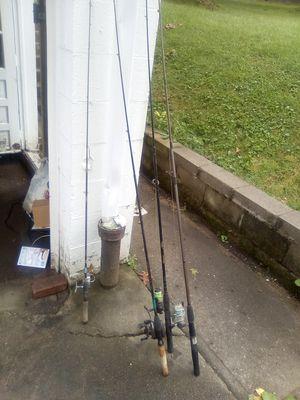 4 fishing poles for Sale in Wheeling, WV