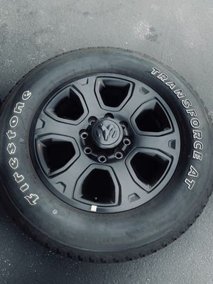 Black Ram 2500 3500 Wheels Rims Tires Llantas Dodge for Sale in Downey, CA