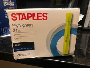 Highlighters yellow 24qty for Sale in New Port Richey, FL