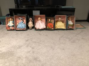 Vintage 1970's Madame Alexander 7 Piece Doll Collection for Sale in Southlake, TX