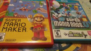 Nintendo Mario Wii u video games for Sale in Marysville, WA