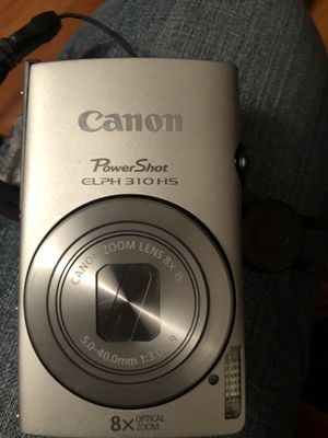 Canon silver Power Shot Elph 310 HS Full HD point and shoot camera no charger , no battery for Sale in Riviera Beach, FL