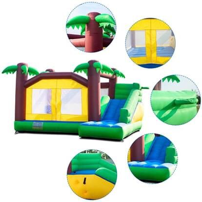 🔥New🔥Inflatable Jungle Bounce House Jumper Castle