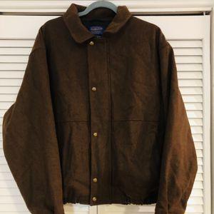Pendleton Virgin Wool Men's Bomber Style Size L Jacket Brown for Sale in Woodbridge, VA