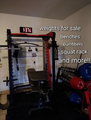 Gym equipment , weights and more for sale for Sale in Chula Vista, CA