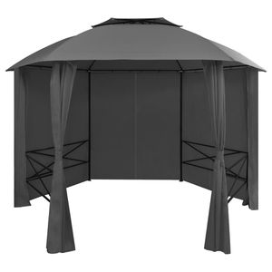 Garden Marquee Pavilion Tent with Curtains Hexagonal 11.8'x8.7' for Sale in Long Beach, CA