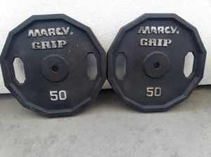 2x50lbs standard size weight plates for Sale in West Hollywood, CA