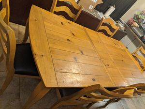 Very very heavy kitchen table and chairs and leaf for Sale in Phoenix, AZ