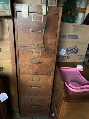 Vintage Globe Wernicke Filing Cabinet for Sale in McLoud, OK