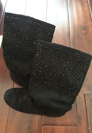 Girls Black Boots size 3 for Sale in Davidson, NC