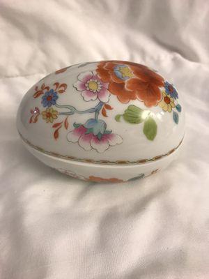 France Porcelaine Egg shaped Limoge trinket box for Sale in Miami, FL