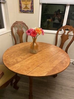 Wood table with two partitions two make it larger. for Sale in Boulder, CO