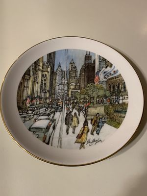 Collectible plates Chicago 1976 Franklin McMahon for Sale in Marengo, IL