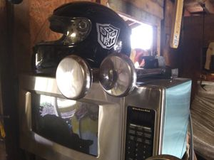 Air horns helmet or nearly new microwave need gone for Sale in Greenville, SC
