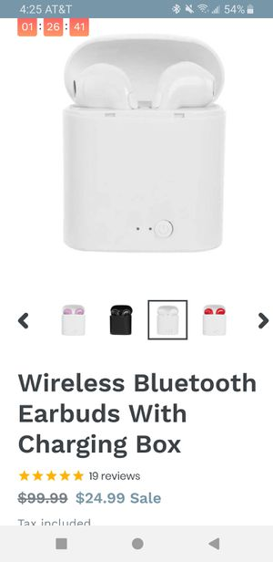 Wireless Bluetooth Earbuds With Charging Box for Sale in Santa Fe Springs, CA