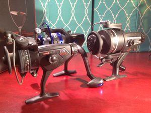 3 FISHING REELS ALL NEW DAIWA AG 1655 , CARDINAL 653 A.GARCIA , YUMOSHI. BK 4000 for Sale in Houston, TX