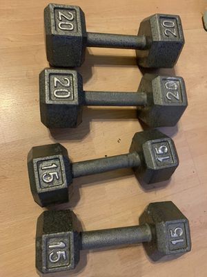 Weight dumbbell set for Sale in Chandler, AZ