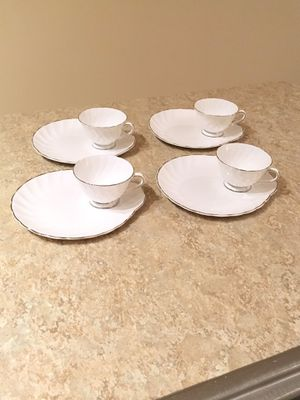 Set of Tea Cups & Snack Plates for Sale in Herndon, VA