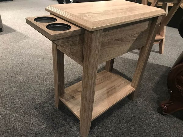 End Table with 2 Cup Holders, Dark Taupe Color, SKU 161582