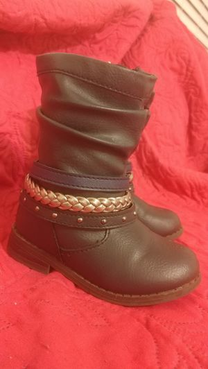 Toddler Girl Boots - Navy & Silver - size 6 for Sale in Orange City, FL