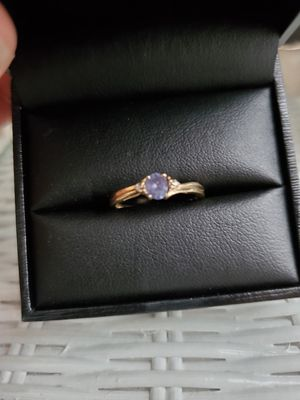 Beautiful Solid 10K Gold Amethyst Ring Size 6 Stamped for Sale in Virginia Beach, VA