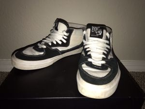 Vans Half Cab- white and black, size 9 for Sale in Springfield, MO
