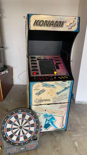 Konami arcade and darts board. for Sale in Victorville, CA